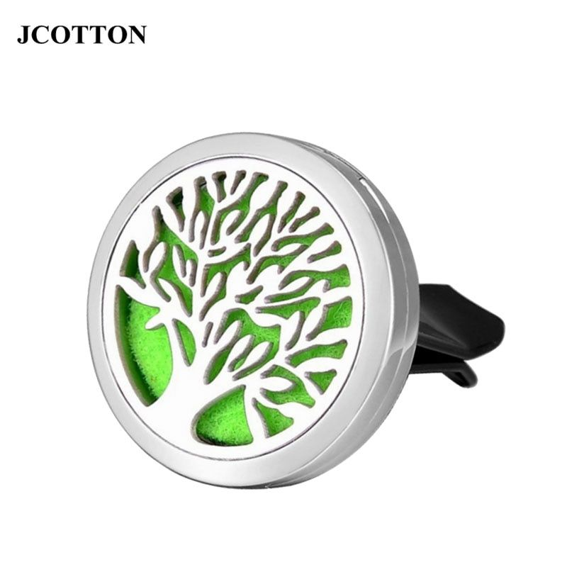 JCOTTON Tree of Life Perfume Aromatherapy Car Essential Oil Diffuser Car Air Freshener Vent Clip Flavoring in the car Parfumes