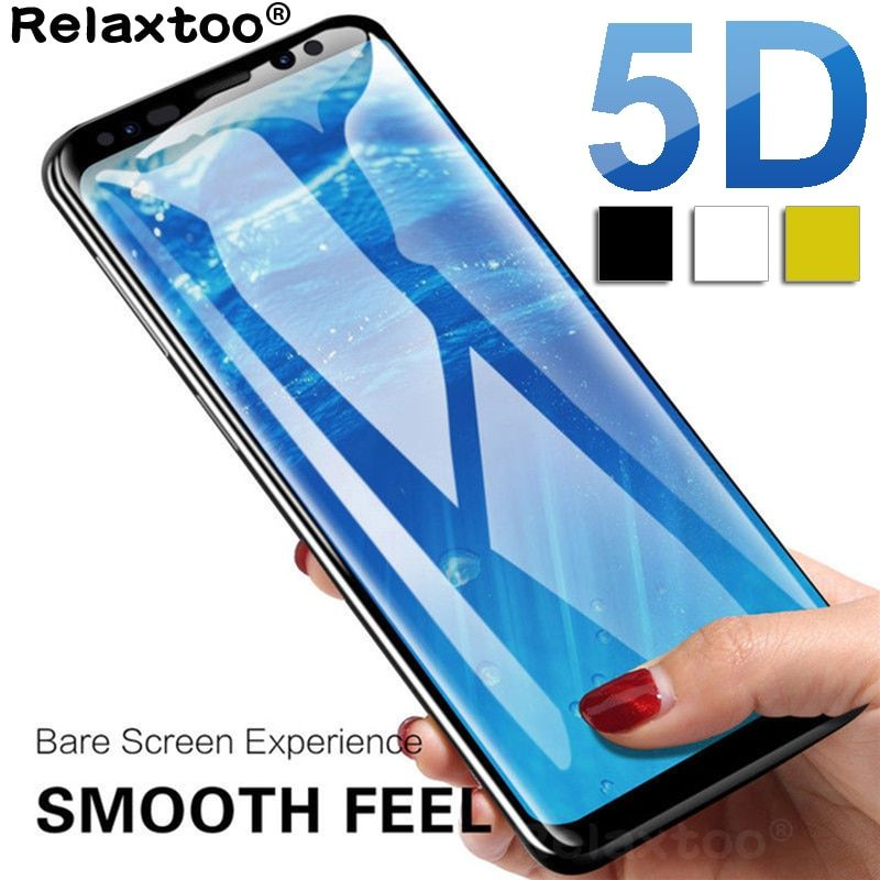 5D Curved Edge Protective Glass On For Samsung Galaxy A7 2018 A6 A8 J4 J6 Plus J8 Screen Protector film A J 4 6 8 Tempered Glass