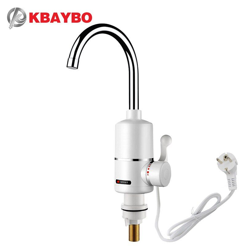 KBAYBO 3000W water heater Bathroom faucet Kitchen Faucet water heater tap One second that is out of hot water