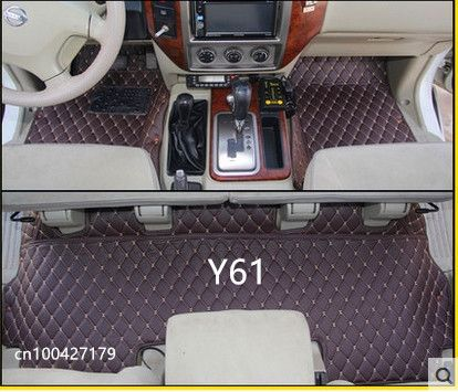 High quality! Special floor mats for Nissan Patrol Y61 5 Seats 2010-1997 waterproof rugs carpets for Patrol 2007,Free shipping