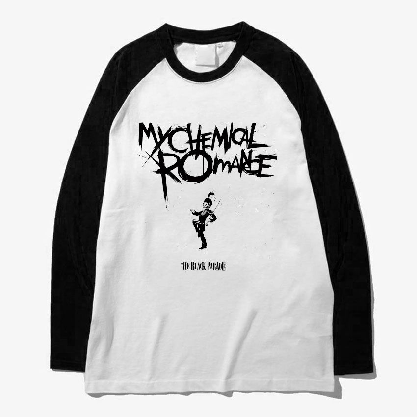 My chemical romance noir parade rock n roll mode hommes femmes taille manches longues lâche style t-shirt