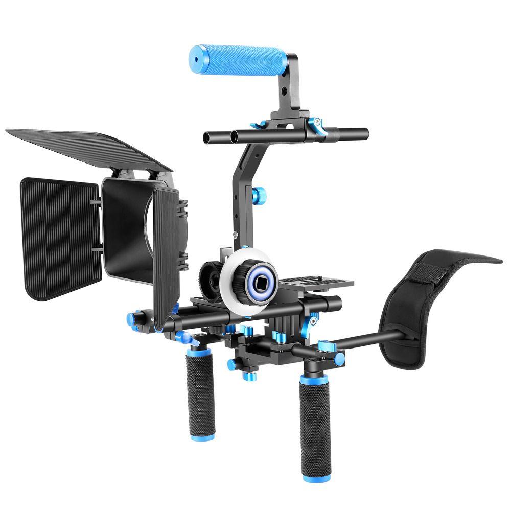 Neewer Professional DSLR Rig Set Movie Kit Film Making System for All DSLR Cameras+Video Camcorders Shoulder Mount+Follow Focus