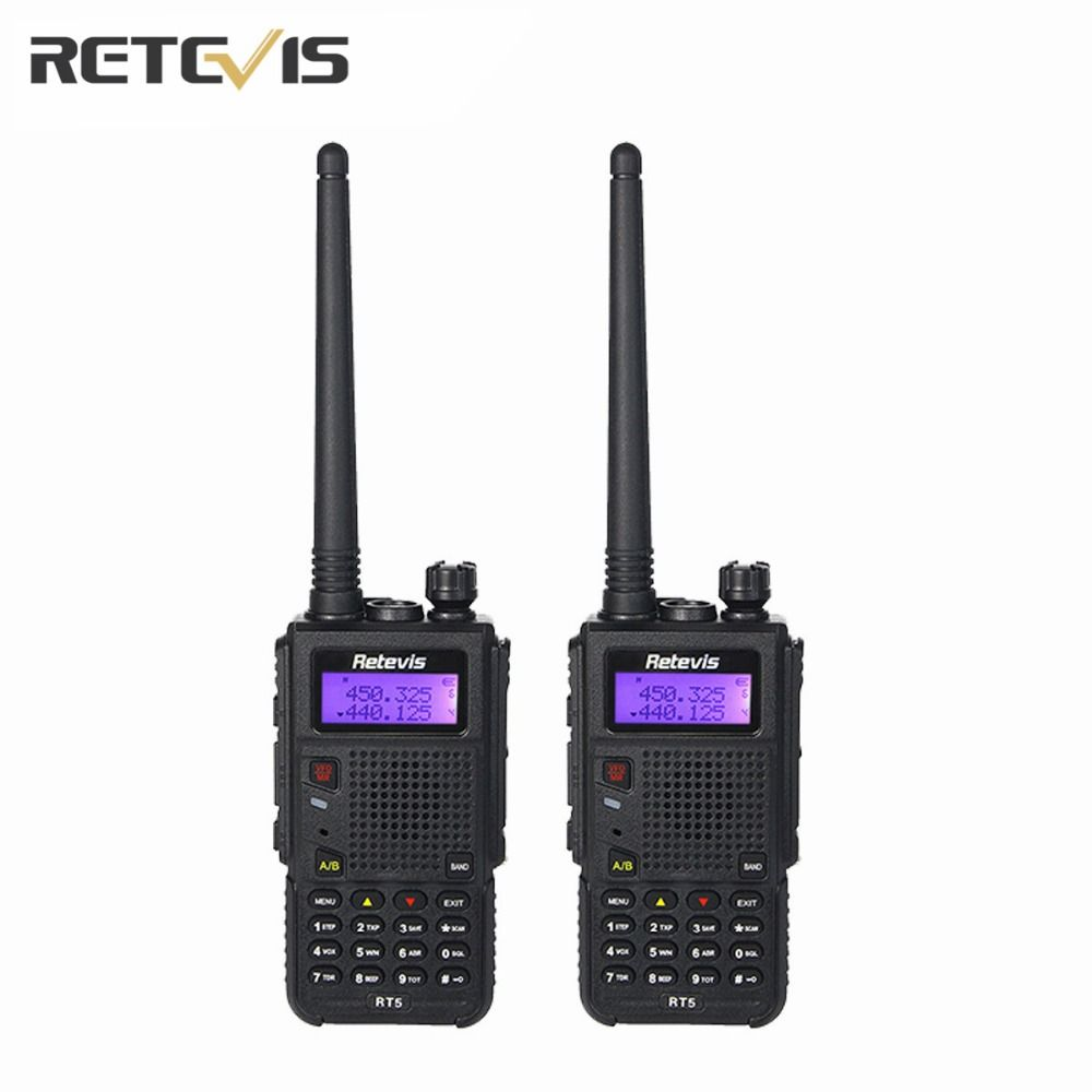 2X Retevis RT5 Walkie Talkie Large Capacity  (High/Medium/Low) Portable Radio Transceiver Dual Band Amateur 2 Way Radio Moscow