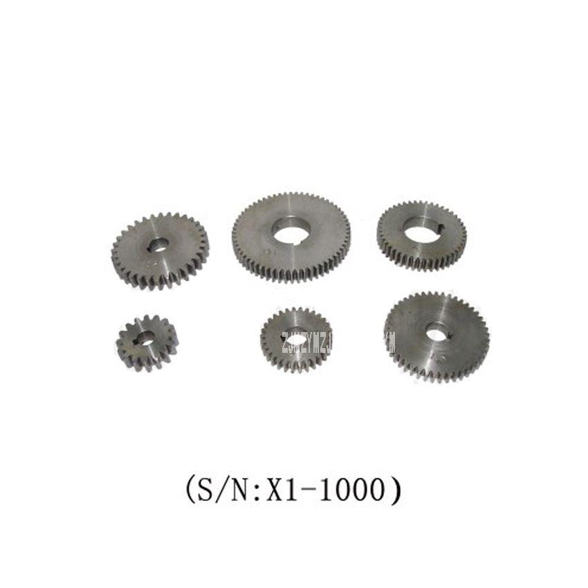 X1-1000 6 STÜCKE Metal Gear Set/SIEG X1 Ändern Gear Set 45 # stahl Metal gear Set