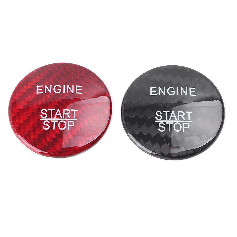 ABS Start Stop Engine Keyless Start Button Cover For Mercedes Benz E Class Black /Red
