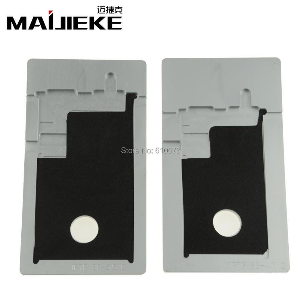 MAIJIEKE Ändern Polarisator form für iPhone 8 7 6 s 6 plus 5 5 s 5c LCD entfernen uv-kleber-form-form halter OCA entfernen polarisationsfolie form