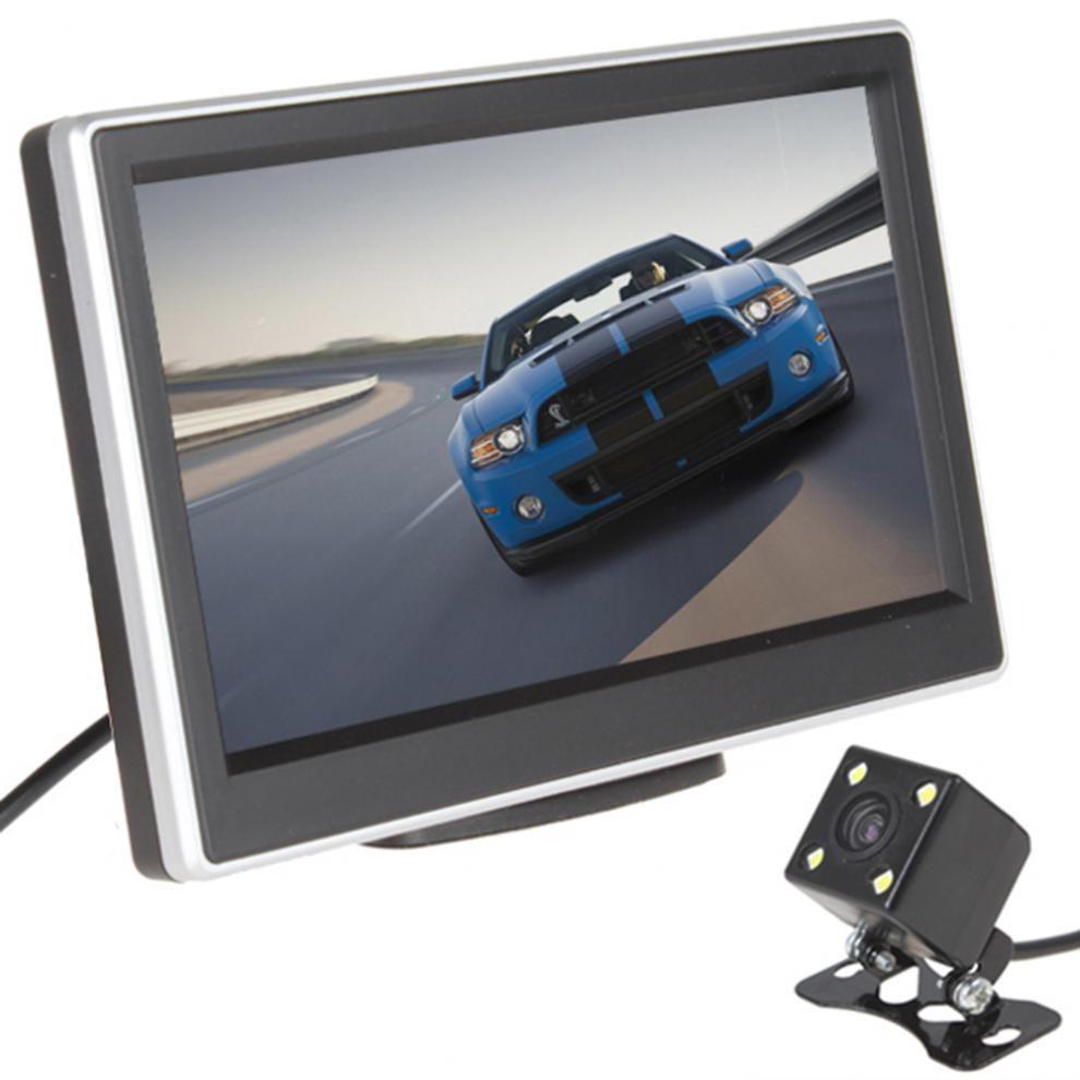 5 pouces 480x272 Pixel TFT LCD couleur voiture vue arrière moniteur avec 420 lignes TV 170 degrés lentille Vision nocturne caméra de sauvegarde
