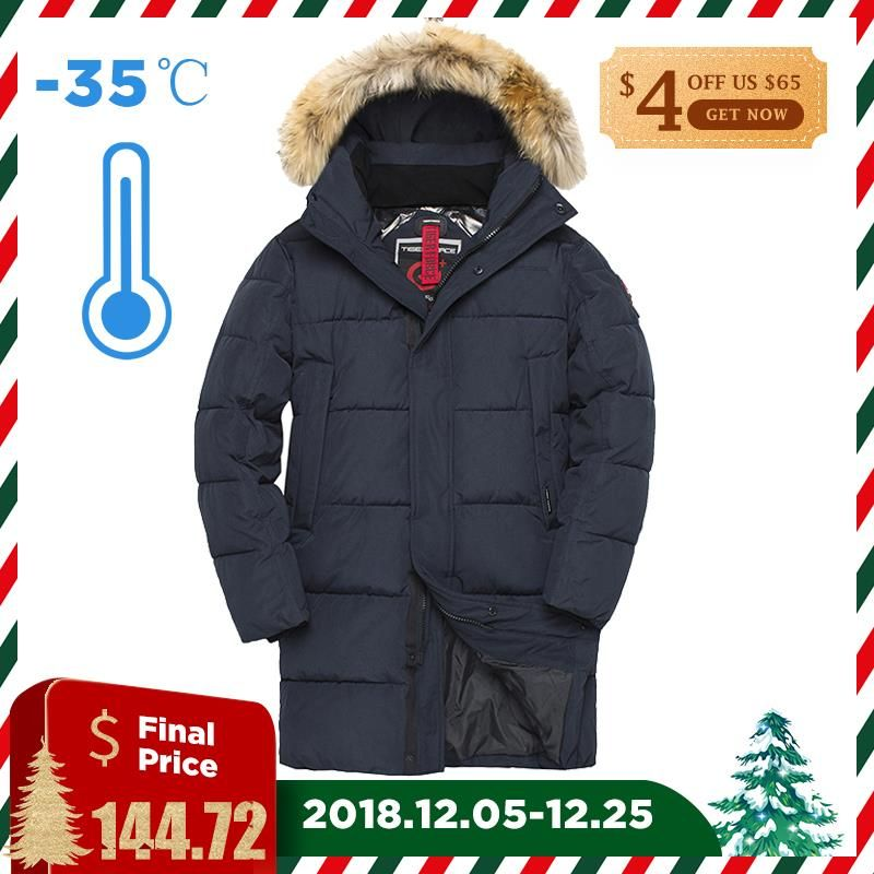 TIGER FORCE Winter Jacket Men Parka Padded Coat Hat Detachable Men's Winter Coat Artificial Fur Big Pockets Thick Jacket 3XL