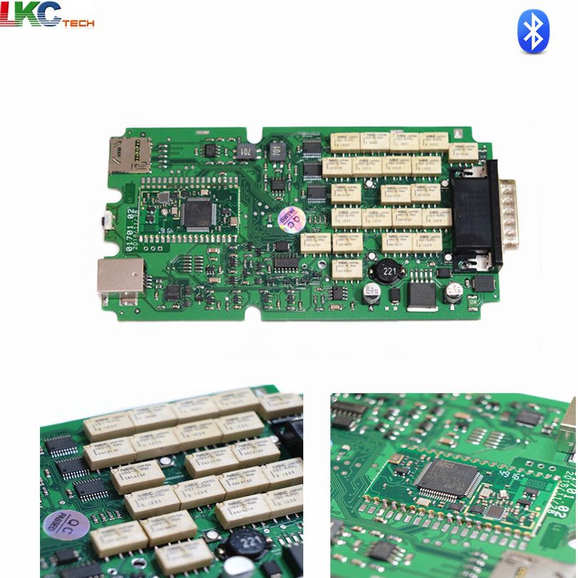 Newest 2016.00 Single A+ Green PCB TCS cdp PRO NEC Relays New VCI for Cars/Trucks OBD2 Diagnostic-Tool Scanner 5pcs/lot DHL Free