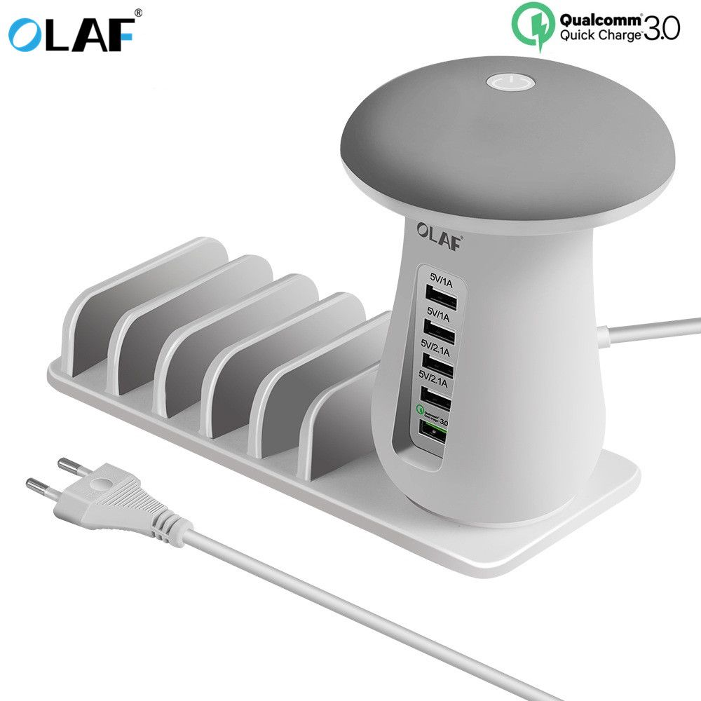 Quick Charge 3.0 Fast 5 Ports USB Charger for Samsung Galaxy S8 Xiaomi redmi 4x iPhone Universal Phone Charger carregador turbo