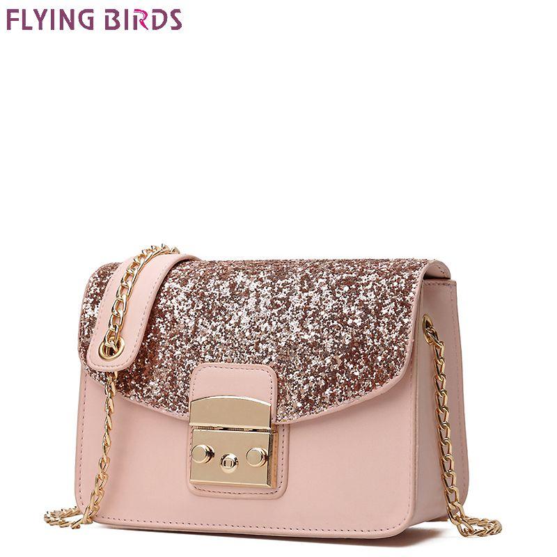 FLYING BIRDS famous brand bags chain women leather handbags bolsas high quality women's messenger bags demale designer tote