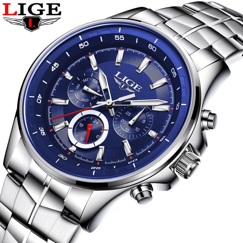 LIGE Uhr Männer Business Wasserdichte Uhr Herrenuhren Top-marke Luxus Mode Lässig Sport Quarz Armbanduhr Relogio Masculino