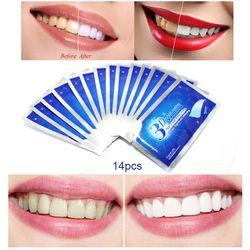 28 Pcs/14 Paire 3D Blanc Gel Blanchiment Des Dents Bandes Oral Soins D'hygiène Double Élastique Dents Bandes de Blanchiment Dentaire blanchiment Outils
