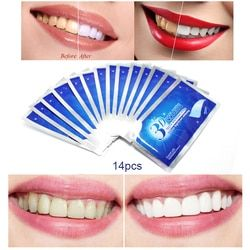 28Pcs/14Pair 3D White Gel Teeth Whitening Strips Oral Hygiene Care Double Elastic Teeth Strips Whitening Dental Bleaching Tools