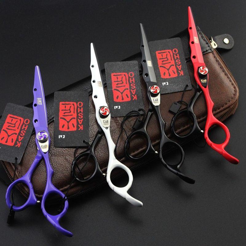 2017 Nouveau KASHO Profissional De Coiffure Ciseaux De Coupe De Cheveux Ciseaux Set Salon De Coiffure Cisailles Haute Qualité Salon 6.0 pouces