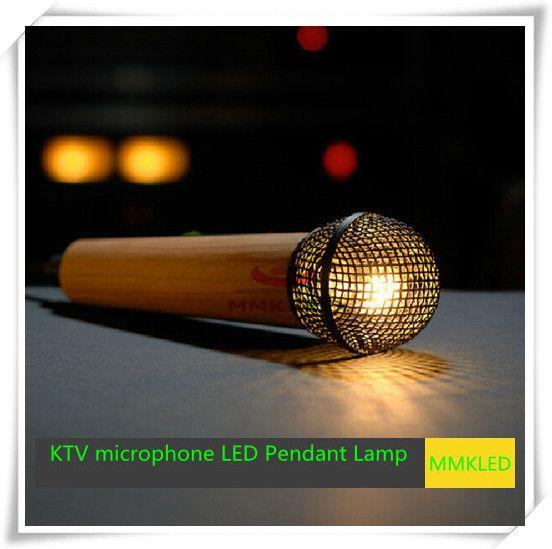 ktv microphone lampes led pendentif d'éclairage intérieur feux lustre chaud white198mm*57mm ac110v- 240v