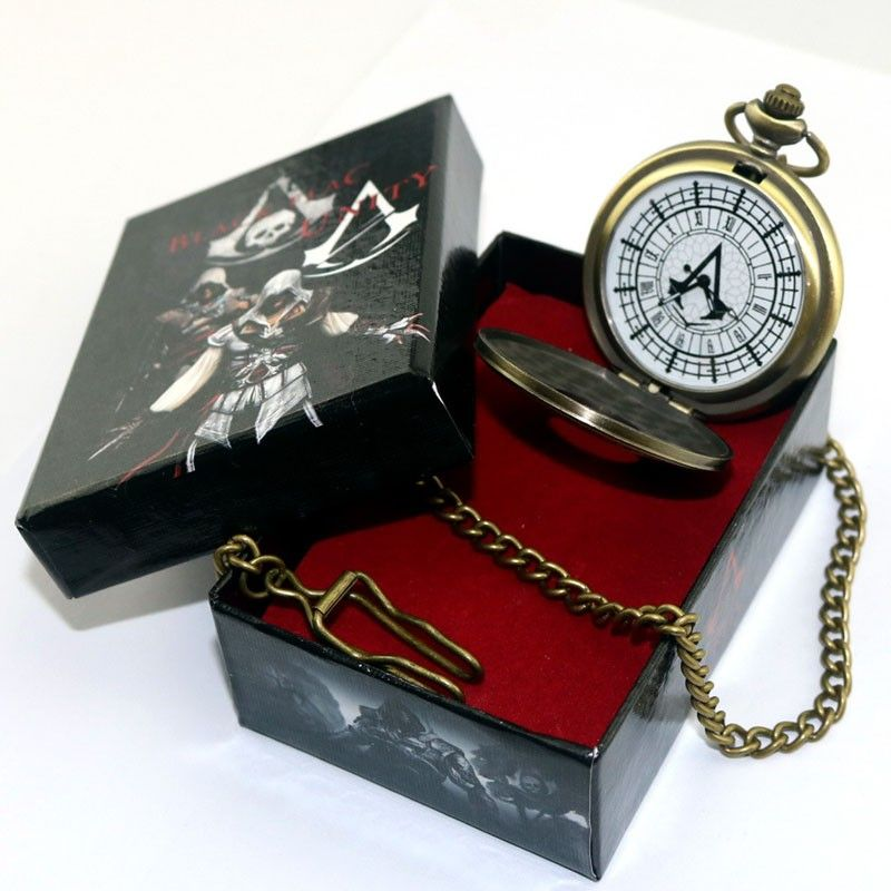 Anime Assassin creed Montre De Poche Connor Transporter Rétro Figure Collection Modèle Cosplay Montre De Poche