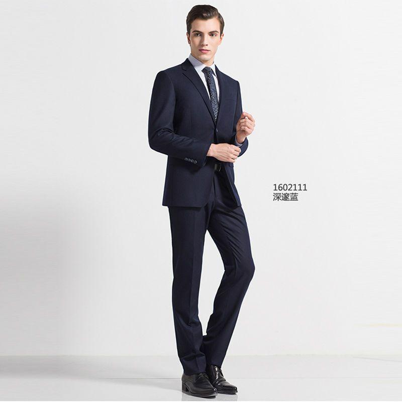 2017 Осень-зима высокого качества черный синий серый темно-серый человек бизнес формальный костюм для свадьбы заказ мужского покроя повседне...