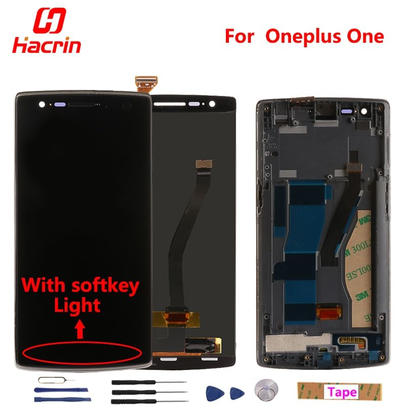 Oneplus One LCD Display + Touch Screen Digitizer Assembly Replacement for One plus One With softkey illumination light