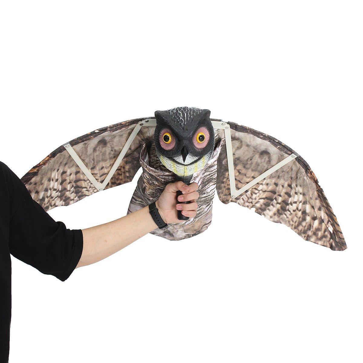 Flying Owl Decoy Pest Control Garden Mice Scarer Scarecrow Predator Decoy Pest Scarer Bird Deterrent outdoor hunting decoy