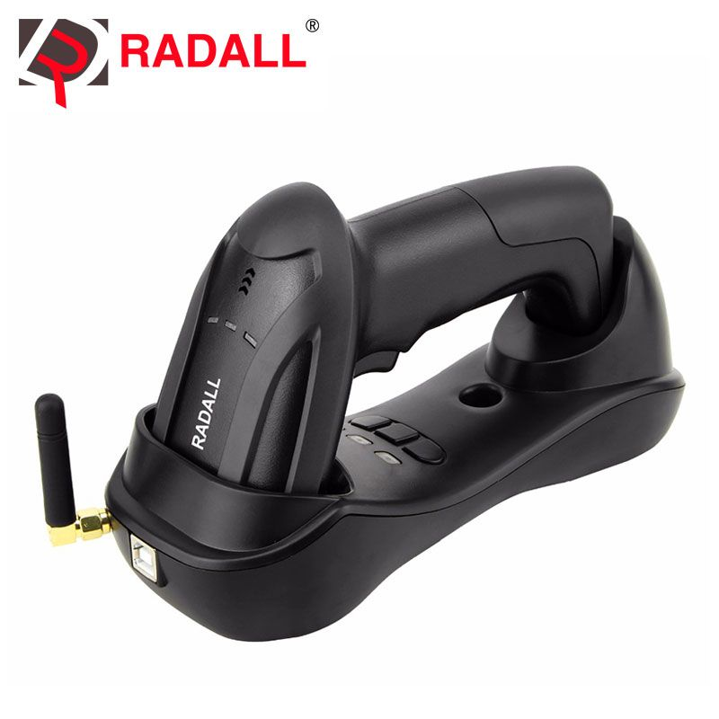 Handheld Wireless CCD Barcode Scanner Reader 32 Bit Cordless Easy Charging Bar Code Scan for POS Inventory - RD-H2