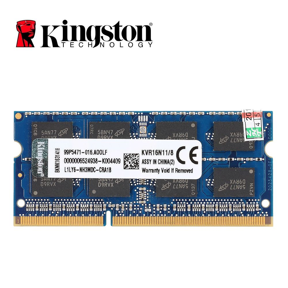 Kingston ram memory DDR3 8GB PC3-12800S DDR3 1600Mhz DDR3 8 GB CL11 204pin 1.5V Laptop Memory Notebook SODIMM RAM