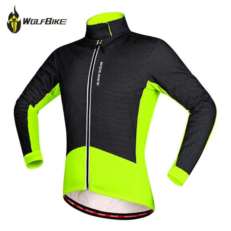 Wolfbike Men's Soft Shell Cycling Jacket Mtb Bike Windbreak Waterproof Sports Coat Bicycles Riding Ropa Ciclismo Cycling Jackets