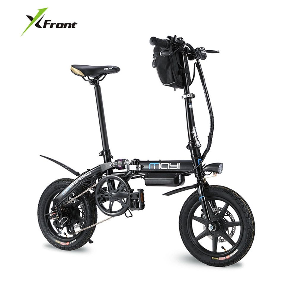 X-Front Brand Electric Bicycle 14 inch Wheel Carbon Steel Frame Folding ebike Lithium Battery electric bike