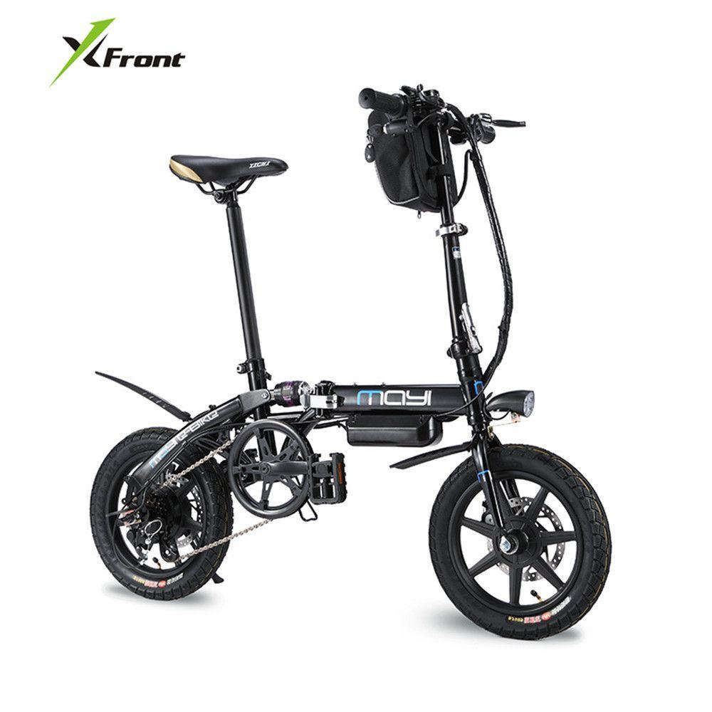 X-Front Marke Elektrische Fahrrad 14 zoll Rad Carbon Stahlrahmen Klapp ebike Lithium-Batterie elektro-fahrrad