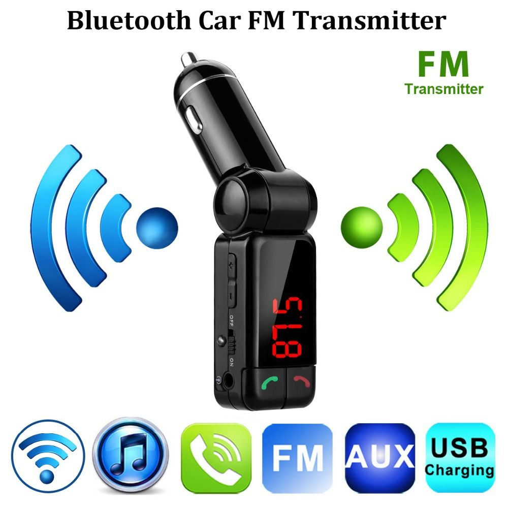 Upgraded Bluetooth Car Kit FM Transmitter Wireless MP3 Player Modulator Handsfree LCD+Dual USB Charger for iPhone Mobile Phone