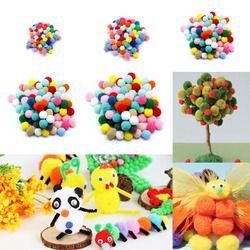 100 pcs DIY Crafts Colourful Mini Fluffy Pom poms Ball Felt 10mm 20mm 30mm