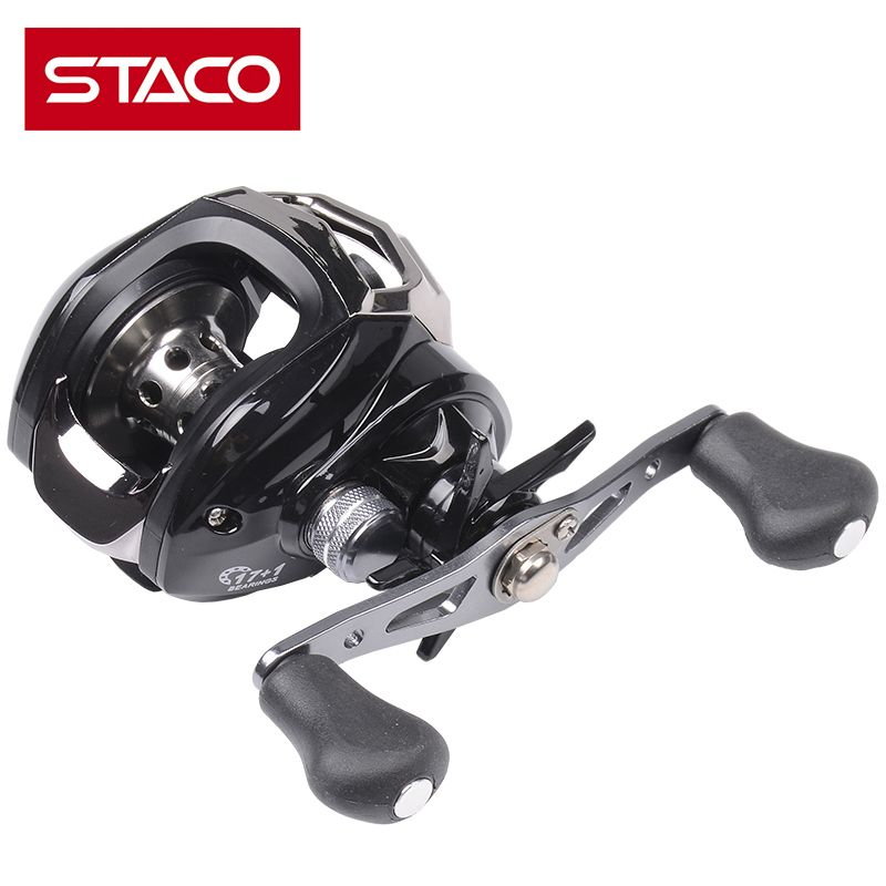 STACO Baitcasting Fishing Reel Right/Left Hand 17+1BB 7.1:1 Bait Casting Fishing Reel Anti Seawater Stainless Steel Bearing