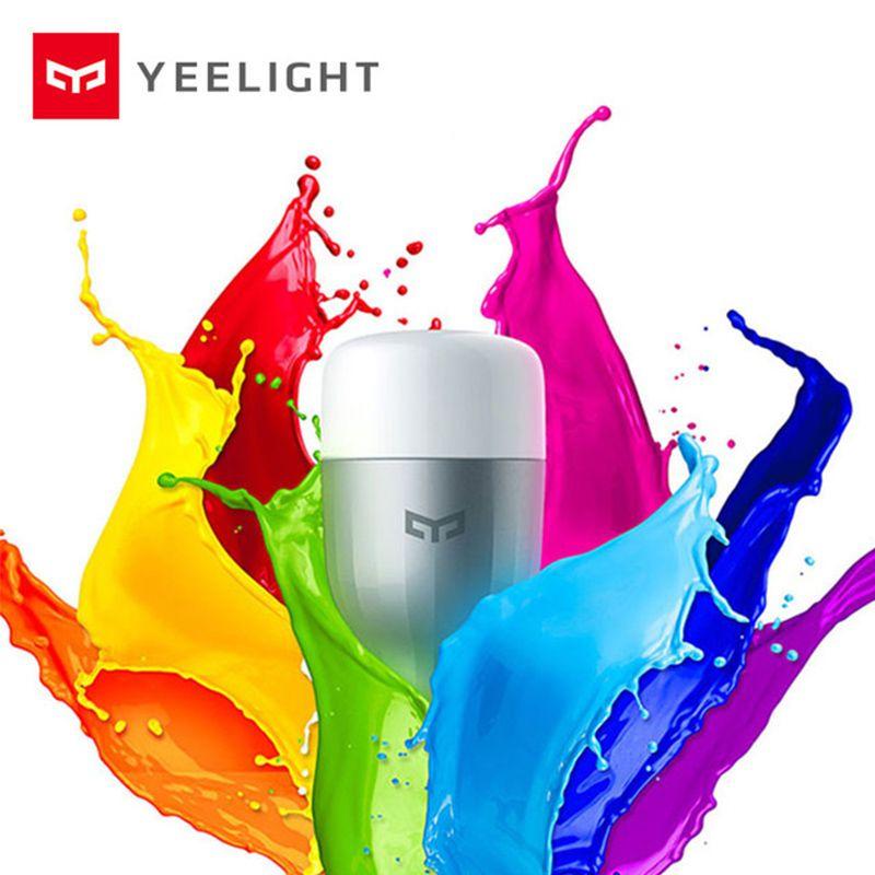 D'origine Xiaomi Yeelight Bleu II LED Smart Ampoule Couleur E27 9 W 600 Lumens Mi Lumière Xiaomi Mijia Téléphone Intelligent WiFi Télécommande