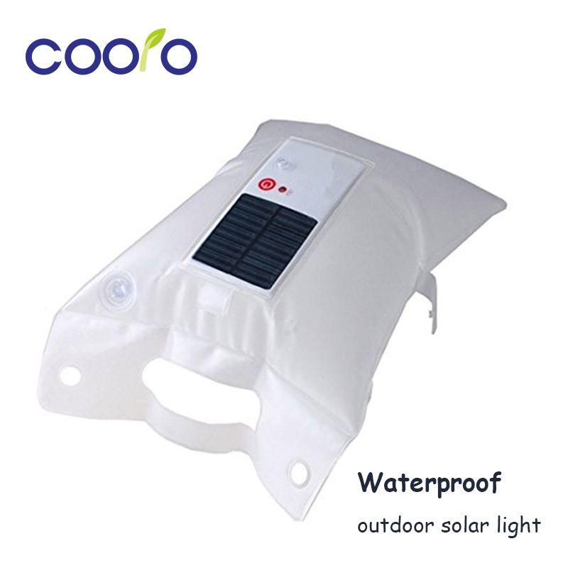 Waterproof  Inflatable LED Solar Light Foldable Air Bag Camping Flashlight Lantern Solar Lantern for Camping, Hiking Travelling