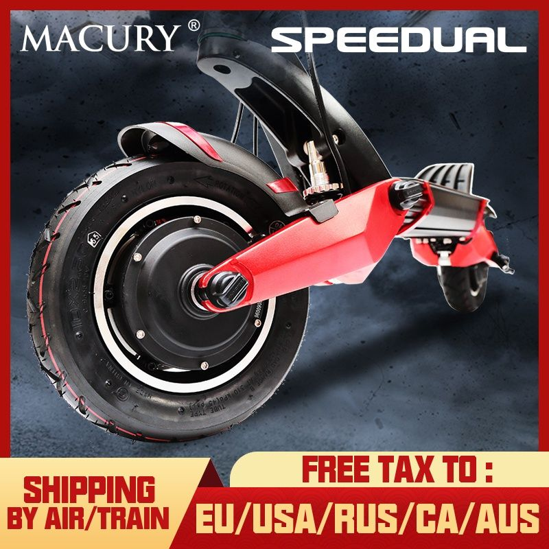 Macury Speedual 10 inch dual motor elektrische roller 52 V 2000 W off-road e-roller 65 km/h doppel stick hohe geschwindigkeit roller off road