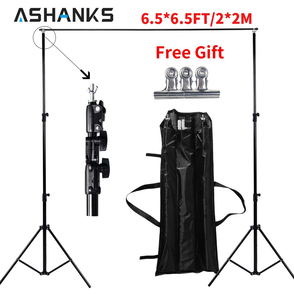 High Quality 2x2M Studio Professinal Photography Photo Backdrops Background Support System Stands + Carry Bag Free Shipping