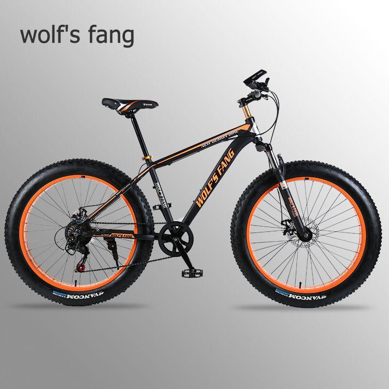 Wolf's fang vélo VTT vélo de route cadre en alliage d'aluminium 26x4.0 7/21/24 vitesse cadre neige plage vélo surdimensionné
