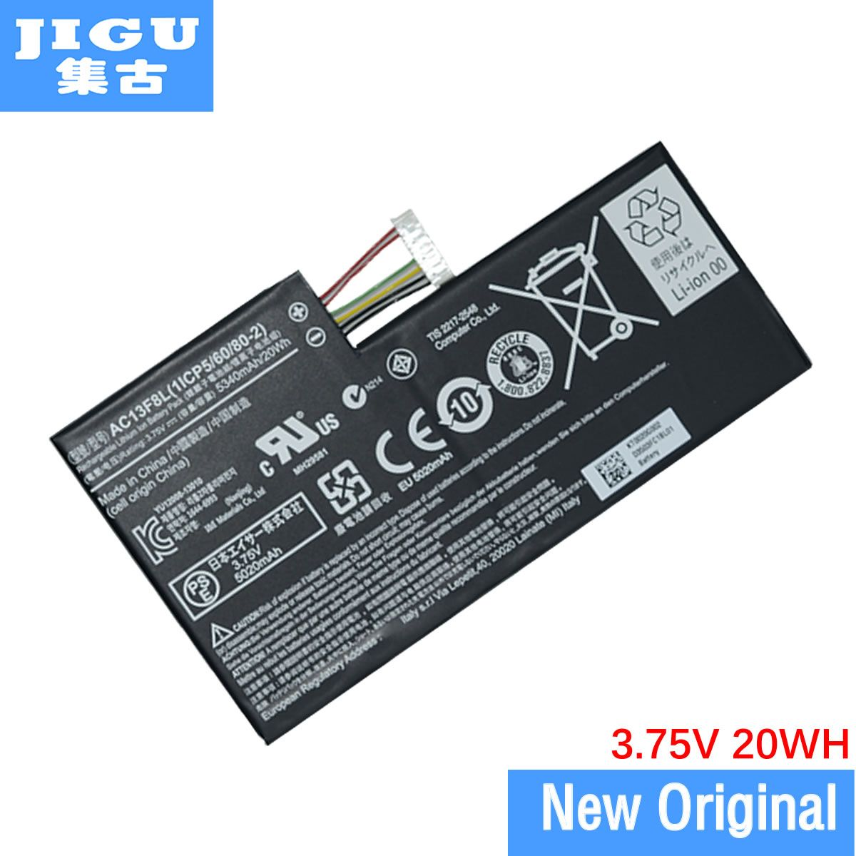 JIGU 1ICP5/60/80-2 AC13F8L Batterie FÜR Acer Iconia Tab A1-810 A1-811 W4-820 W4-820p 1CP5/ 60/80-2 AC13F3L LAptop Tablet PC