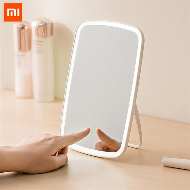Original xiaomi Mijia Intelligent portable maquillage miroir bureau lumière LED portable pliant lumière miroir dortoir bureau