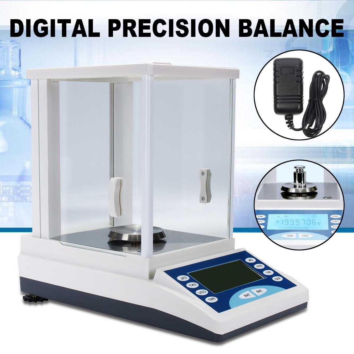 Digital Precision Scale Lab Analytical Balance 200 / 0.0001g 0.1mg 100-240V Top Quality Electronic Balance Aluminum Alloy Base