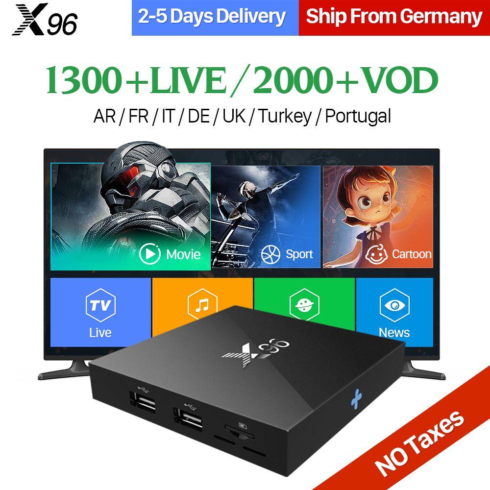 Best Gift X96 Android 6.0 TV Box 2GB S905X IPTV 1 Year QHDTV Code Subscription IPTV Europe Arabic French IPTV Box PK X92 TV Box