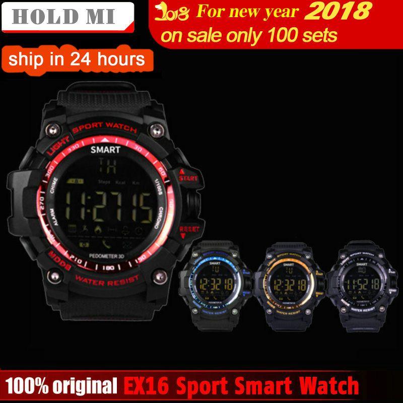 HoldMi EX16 Sport Bluetooth Smart Watch Xwatch 5ATM IP67 Waterproof Smartwatch Pedometer Stopwatch Alarm Clock LONG TIME STANDBY