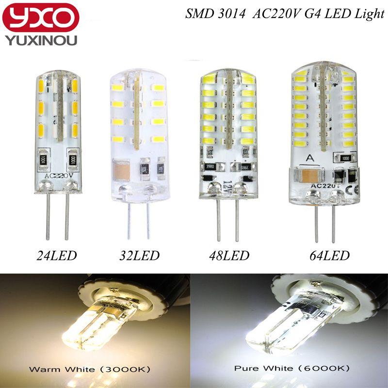 1 шт. G4 светодиодные лампы AC12V DC 12 В/AC 220 В 110 В SMD3014 3 Вт 6 Вт 9 Вт 12 Вт заменить 30 Вт/60 Вт галогенной лампы 360 Угол луча LED лампада лампы