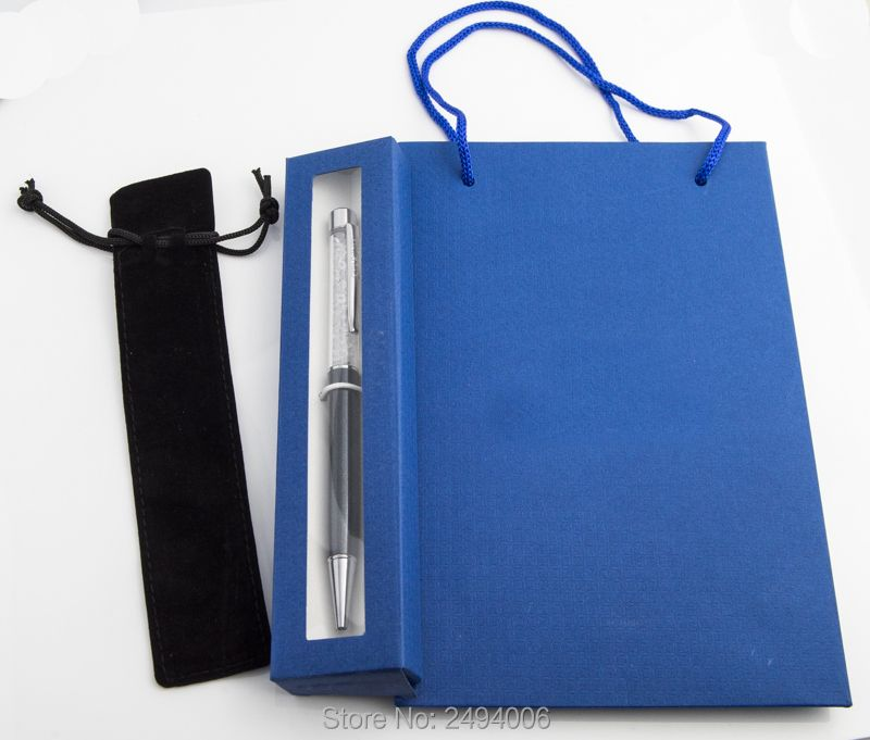 Good Top Bling crystal pen gift bag and pen box and velvet pouch student lovely crystals Pen