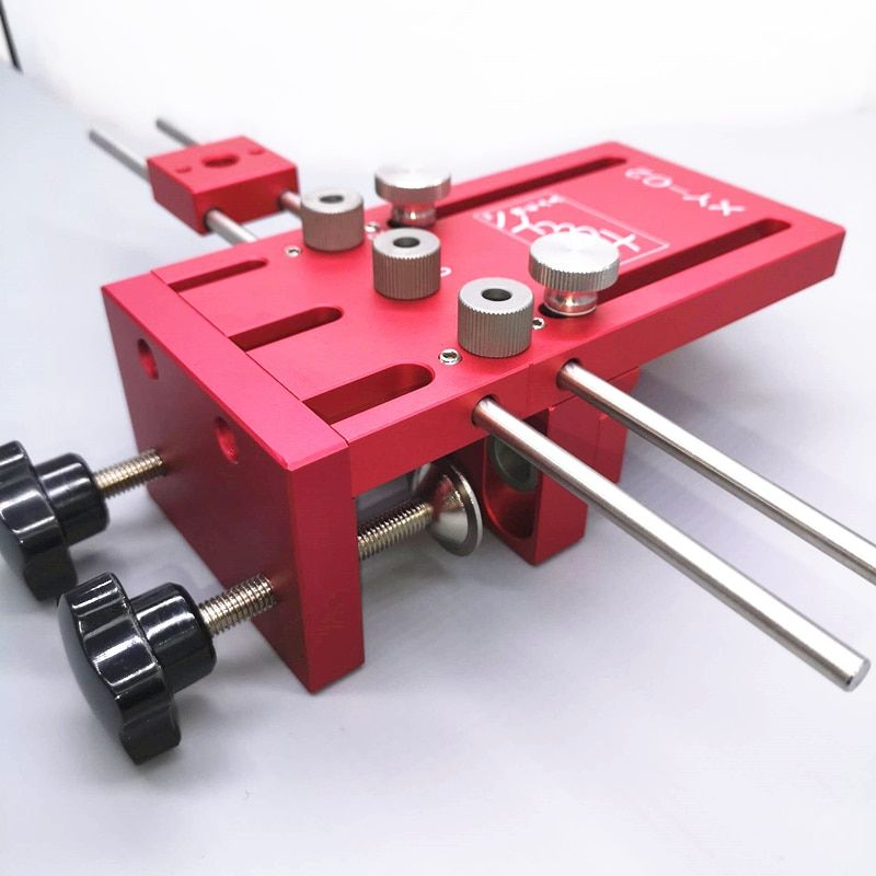 Dowelling Jig for Furniture Fast Connecting Cam Fitting 3 In 1 Woodworking Drill Guide Kit Locator