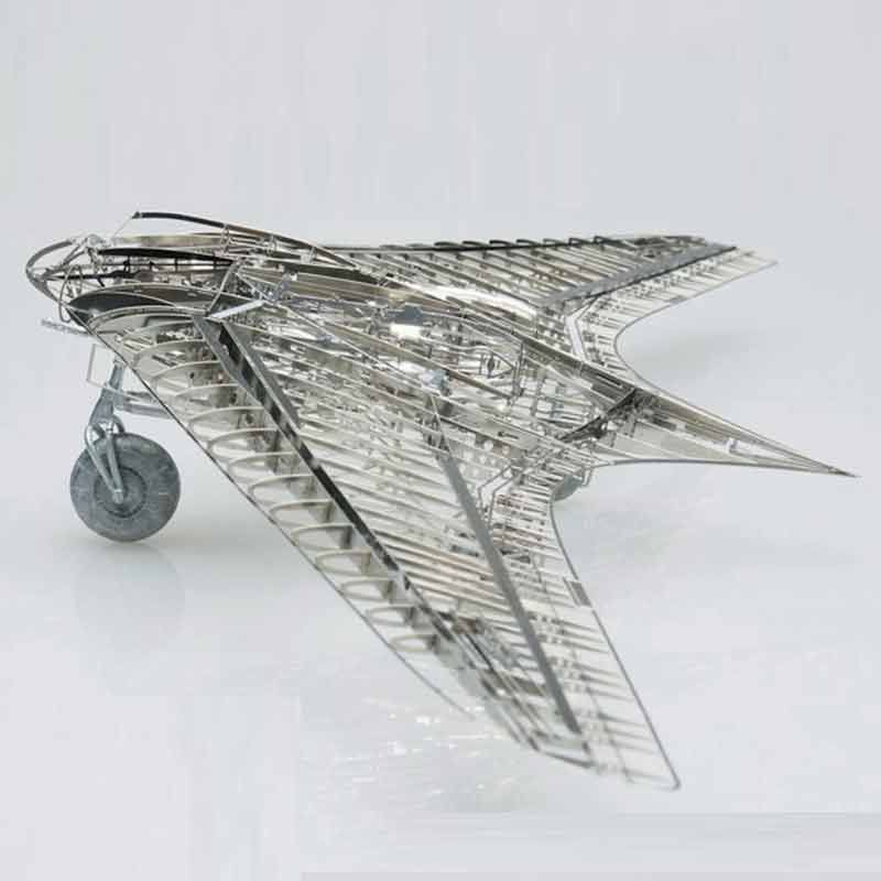 All-metal Alloy DIY Assembly Model 1/72 Germany Horton Ho-229 Stealth Fighter Skeleton High-Difficult Adult Children Puzzles Toy