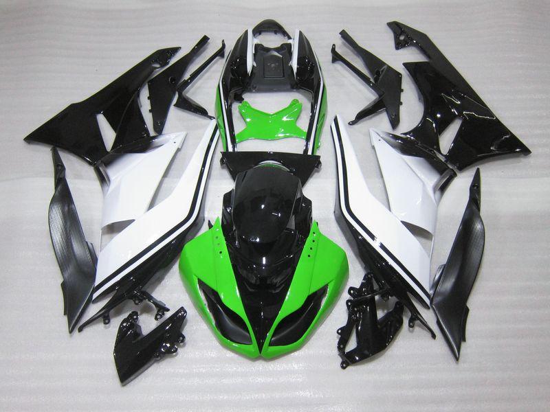 Grün weiß Verkleidungen ZX6R 2009 2011 2010 hochwertigen Verkleidung kit Für Kawasaki ninja ZX 6R 09 10 11 g75