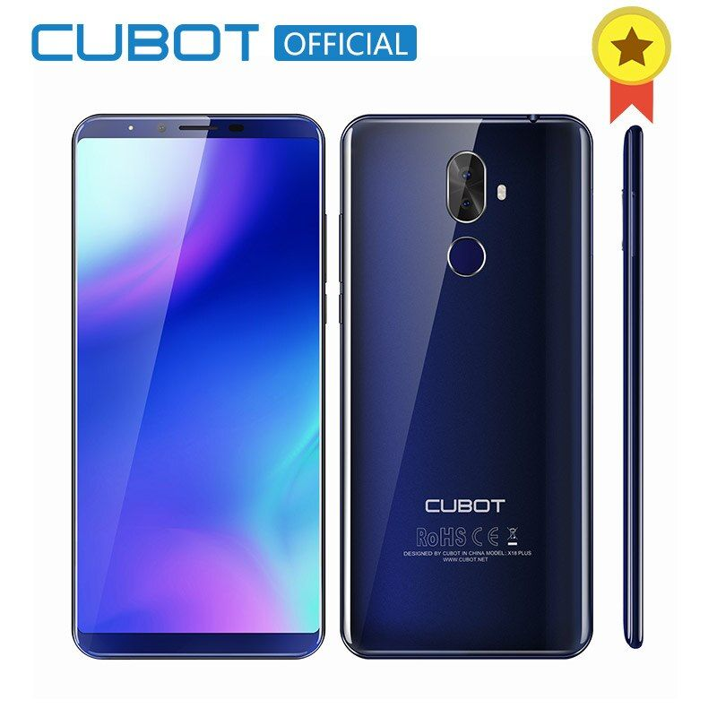 Cubot X18 Plus 18:9 5.99'' 4GB 64GB 2160*1080 Android 8.0 MT6750T Octa-Core 4G Mobile Phone Dual Rear Cameras 4000mAh Cellphone