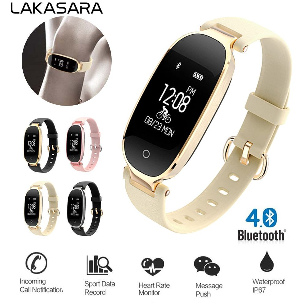 S3 Bluetooth Smart Watch Fashion Women Ladies Heart Rate Monitor Fitness Tracker Sport Wristband Smart Watches for Android IOS