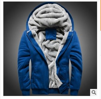 With thick coat more men's hooded <font><b>fleece</b></font> adds the velvet free shipping